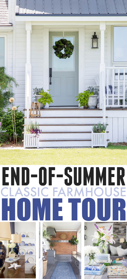 Before we jump with both feet into fall, I thought it would be fun to put together a little round up of what summer has looked like around here. In today's post I'll be sharing my end-of-summer classic farmhouse home tour!