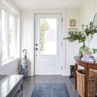 Blue and White Mudroom Update