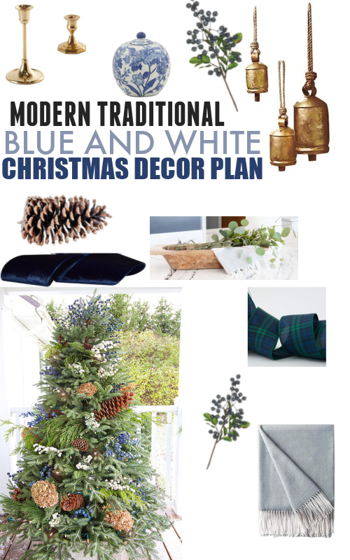 In today's post I'll be sharing some of the ideas I've been considering for my Christmas decorations this year. Here are my blue and white Christmas decor plans!