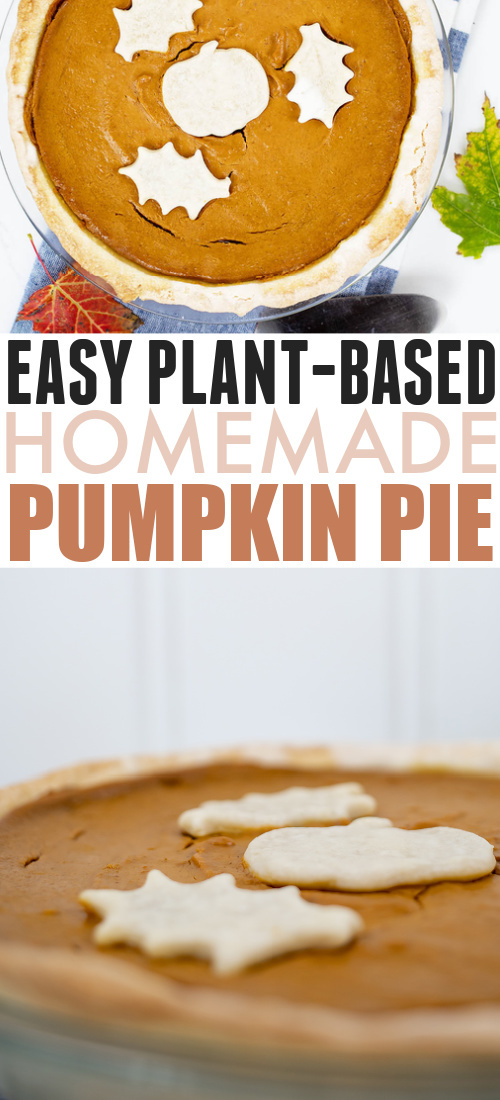Pumpkin pie is a fall necessity and no one should do without! Here's my recipe for perfect plant-based pumpkin pie.