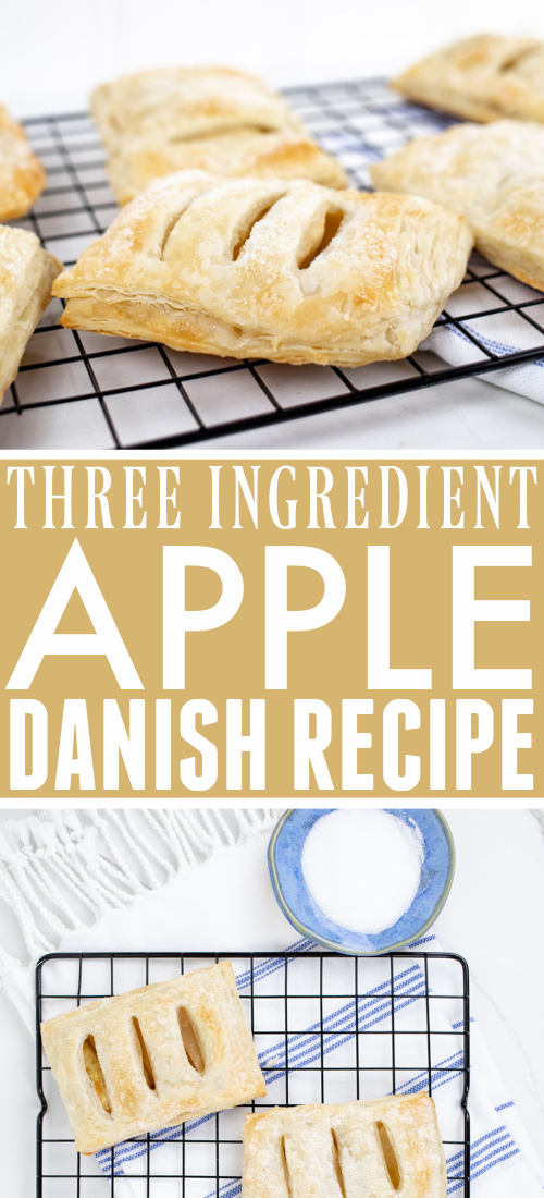 Try this three ingredient apple danish recipe this fall after you get back from the orchard! It's the perfect easy baking recipe to use for all those fall apples!