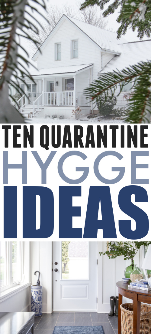 We're probably all a little nervous about the long winter ahead right now. I'm choosing to focus on making our home and lives and cozy and comfortable as possible, because that's kind of what I do! :) Here are ten quarantine Hygge ideas that I'm implementing this fall and winter!