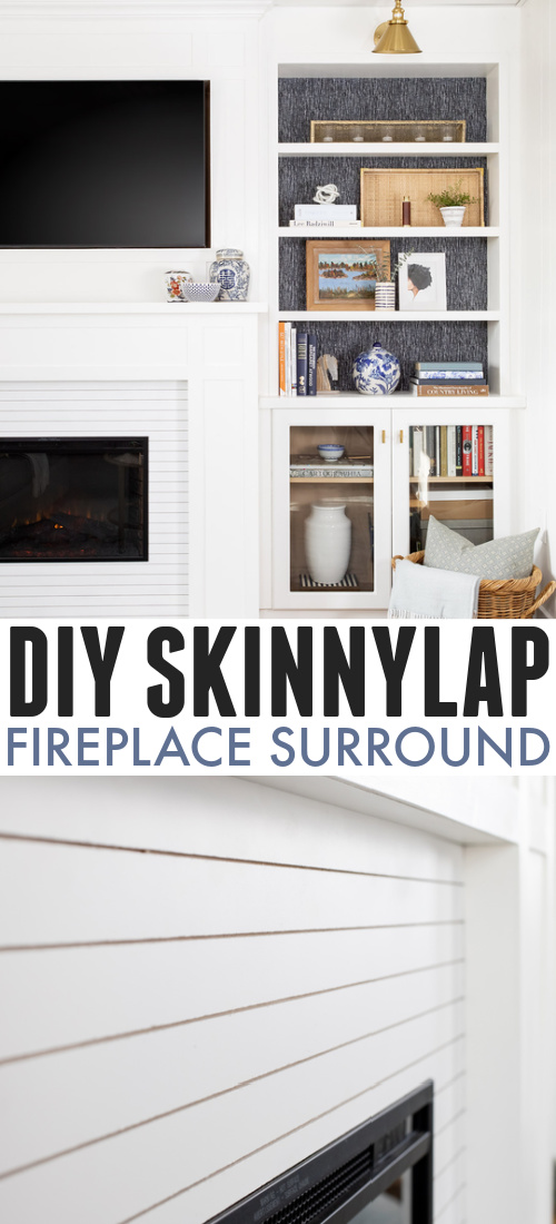 You've heard of shiplap, of course, but have you seen skinnylap? Today I'll share how we created a skinny lap fireplace surround for our new wall in the living room!