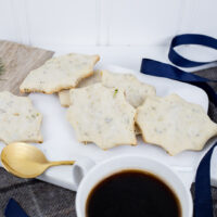 Pistachio Shortbread Leaves