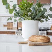 DIY Oversized Matte White Vase