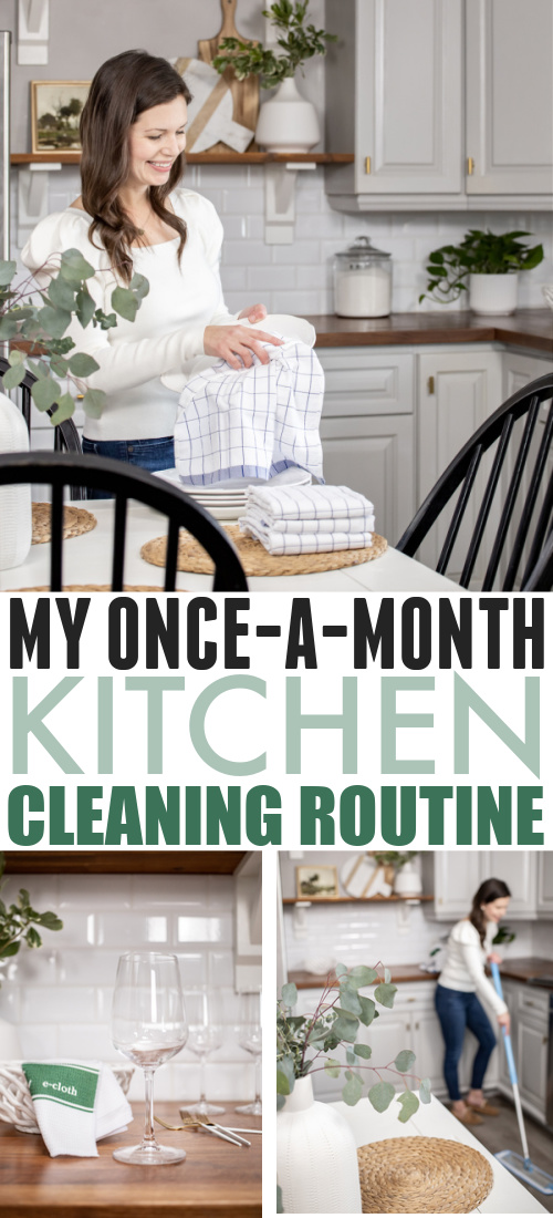 Today I'll be sharing my once-a-month kitchen cleaning routine for keeping my kitchen feeling like it's had a good deep clean without having to invest too much of my time into it.