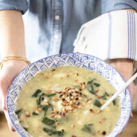 Plant-Based Pesto Gnocchi Soup