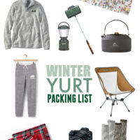 Winter Yurt Packing List