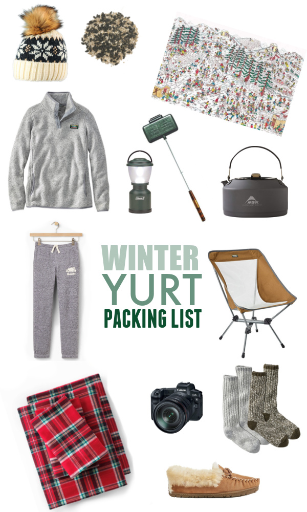 A yurt is the perfect pandemic-friendly winter family getaway! So many people reached out for more information after our last yurt trip, so today I'm sharing my winter yurt packing list.