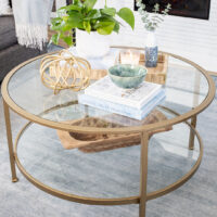 Styling a Small Round Coffee Table