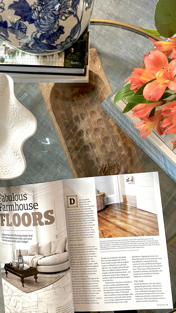 We have a photo in Country Sampler Farmhouse Style magazine!