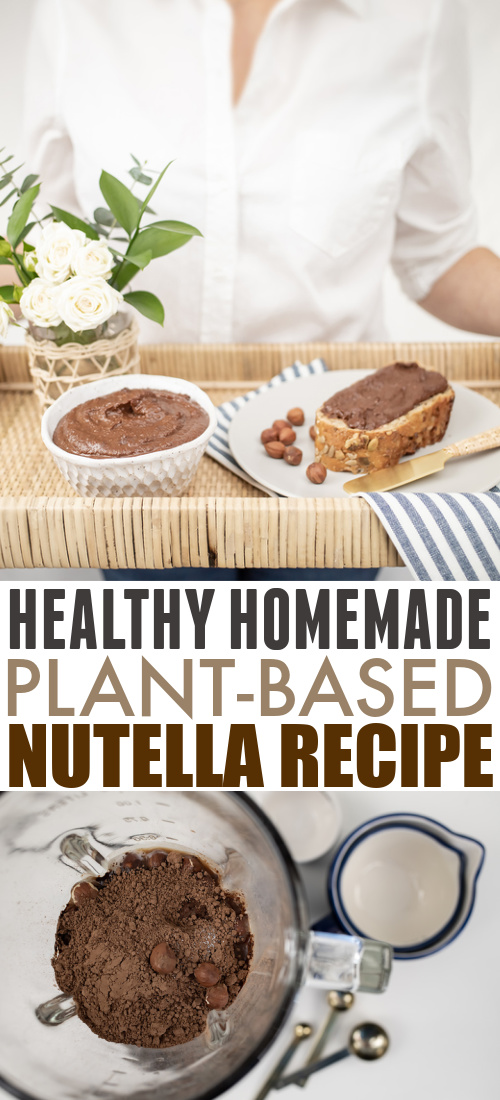 The next time you're craving something chocolatey and decadent, try this healthy homemade Nutella recipe. Made with all simple ingredients and no added sugar, you might just like this as much as the real thing!