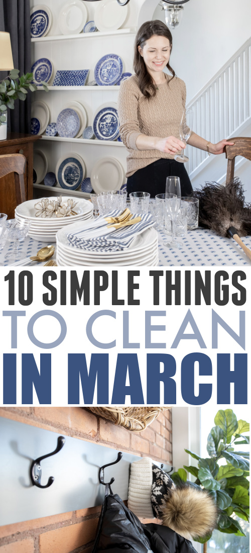 Here's your list of what to clean in March! Use it as your simple guide to what jobs need to be tackled this month around the house.
