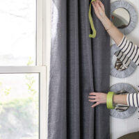 How to Get New Curtains to Hang Straight