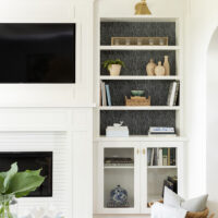 One Small Change for The Living Room Built-Ins and Some Summer Decor