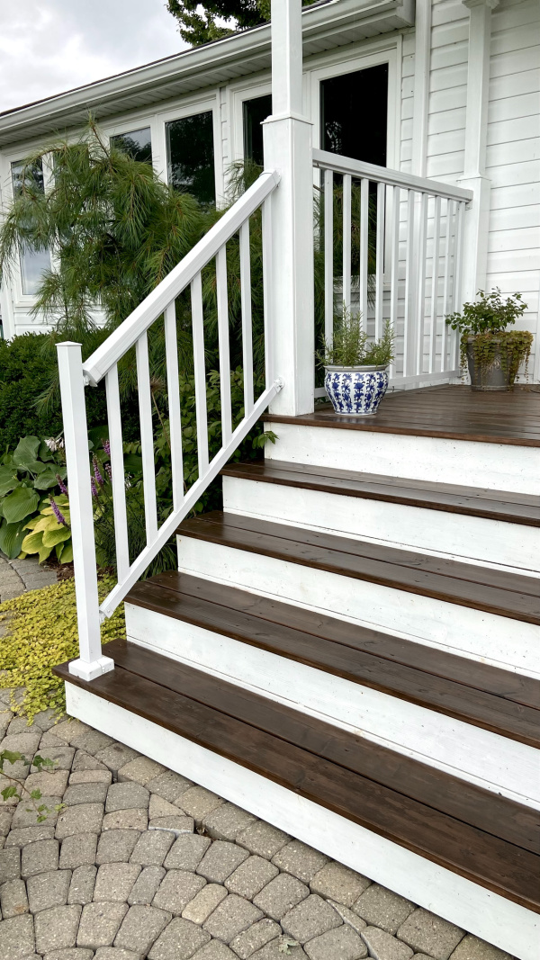 Five Things on a Friday - Freshly-Stained Porch Stairs