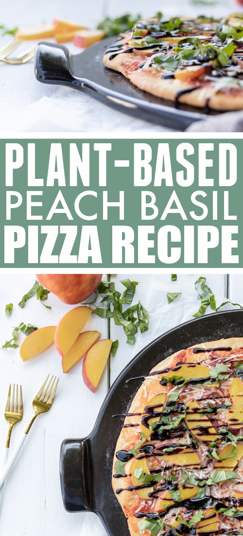 If you're still trying to hang on to those fresh summer flavours, but are also in the mood for pizza (who isn't?) try this surprisingly elegant and fresh-tasting plant-based peach basil pizza!