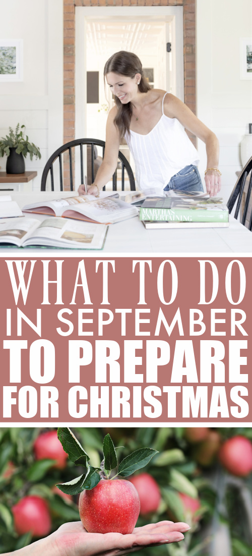 This is the seventh post in a year-long series all about taking baby steps to prepare for a stress-free Christmas. Here's what to do in September to prepare for next Christmas!