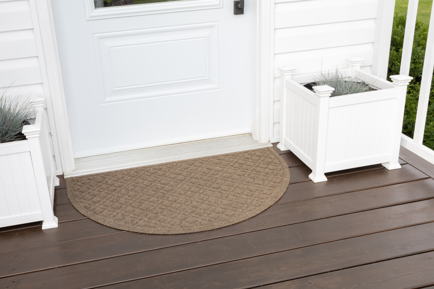 I really just wanted a doormat that would last more than a month, would look presentable, and wouldn't make my porch decor look tacky. I found all that and more with this type of doormat and I can't believe how much satisfaction such a little thing can bring me when it just does what it's supposed to do. :) Here's my LL Bean Waterhog Doormat Review!