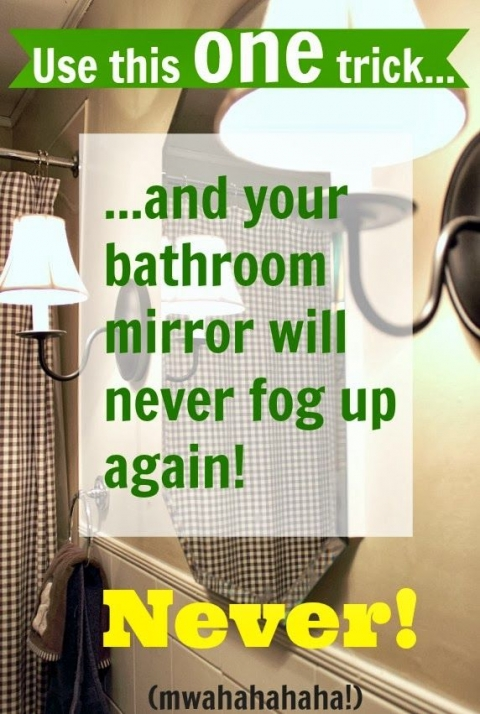 Are you tired of having to wait for your bathroom mirrors to defog? Follow this trick and your bathroom mirror will never fog up again!