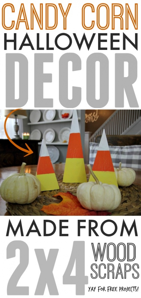 Candy Corn Decor Made From 2 4 Wood Scraps The Creek Line