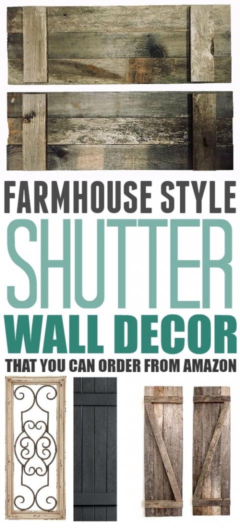 Farmhouse Style Shutter Wall Decor The Creek Line House