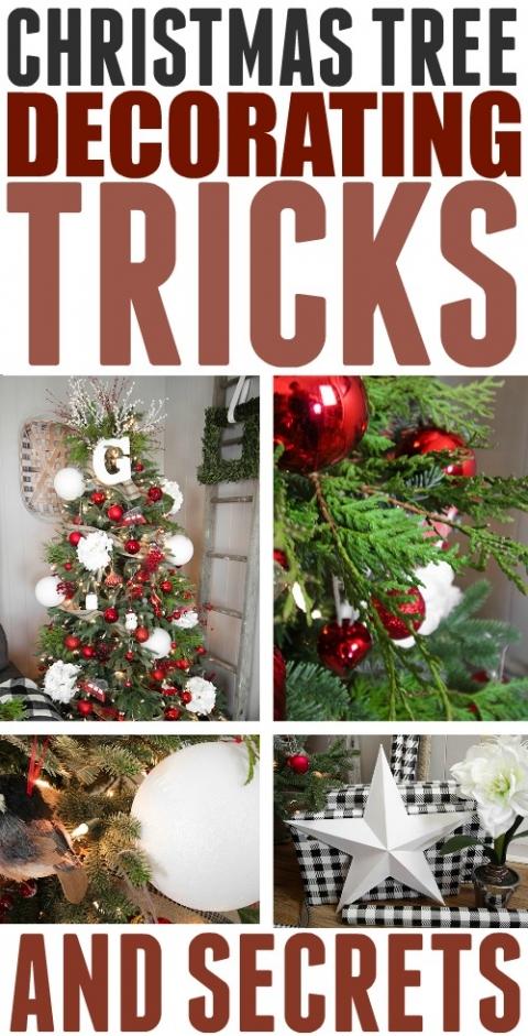 Simple Christmas Tree Decorations To Make.Christmas Tree Decorating Tricks The Creek Line House