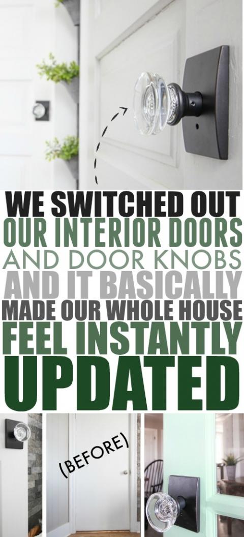 Interior Door Updates New Doors And Door Knobs The Creek